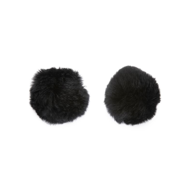 Black Fur Pompom