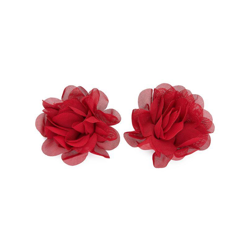 Red Chiffon Flower