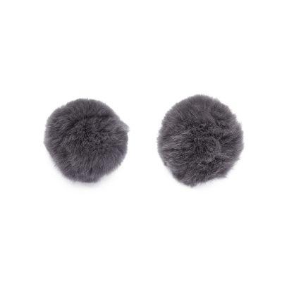 Grey Fur Pompom